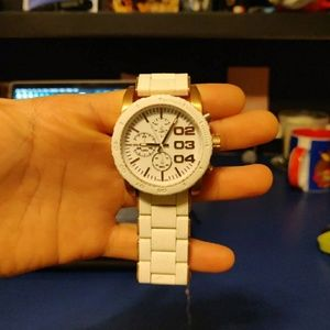 Diesel white/rose gold watch